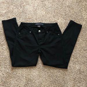 Tinsel Denim Couture Black Skinny Crop Pants
